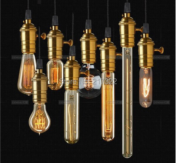 Whole set of lamp with 8 single-head brass E27 incandescent bulbs vintage edison pendant light lamp for home lighting lamp fundamentals of physics extended 9th edition international student version with wileyplus set
