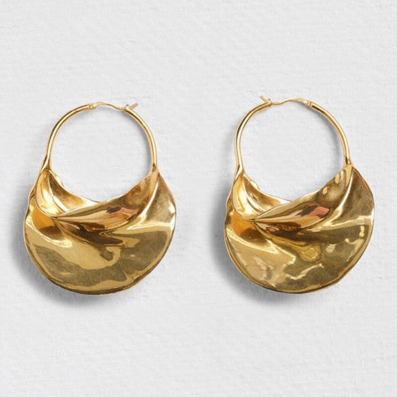 Geschickt Unregelmäßigen Metall Korb Große Creolen Für Frauen Großen Weißen Emaille Erklärung Huggie Ohrringe Nickel Frei Großhandel Bijoux