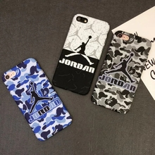 NBA Hard PC phone cases NBA Star for iphone 6 7 7 plus case James Harden Michael Jordan Lebron Camouflage Military case iphone 7