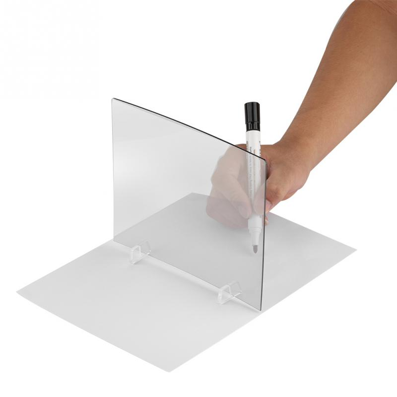 LED Light Stencil Board Light Box Tracing Drawing Board Sketch Mirror Reflection Phone Dimming Drawing Board Pad reflection