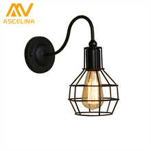 hot deal buy ascelina american village vintage wall lamp loft style decorative luminaire indoor home lighting aisle bar restaurant hotel cafe