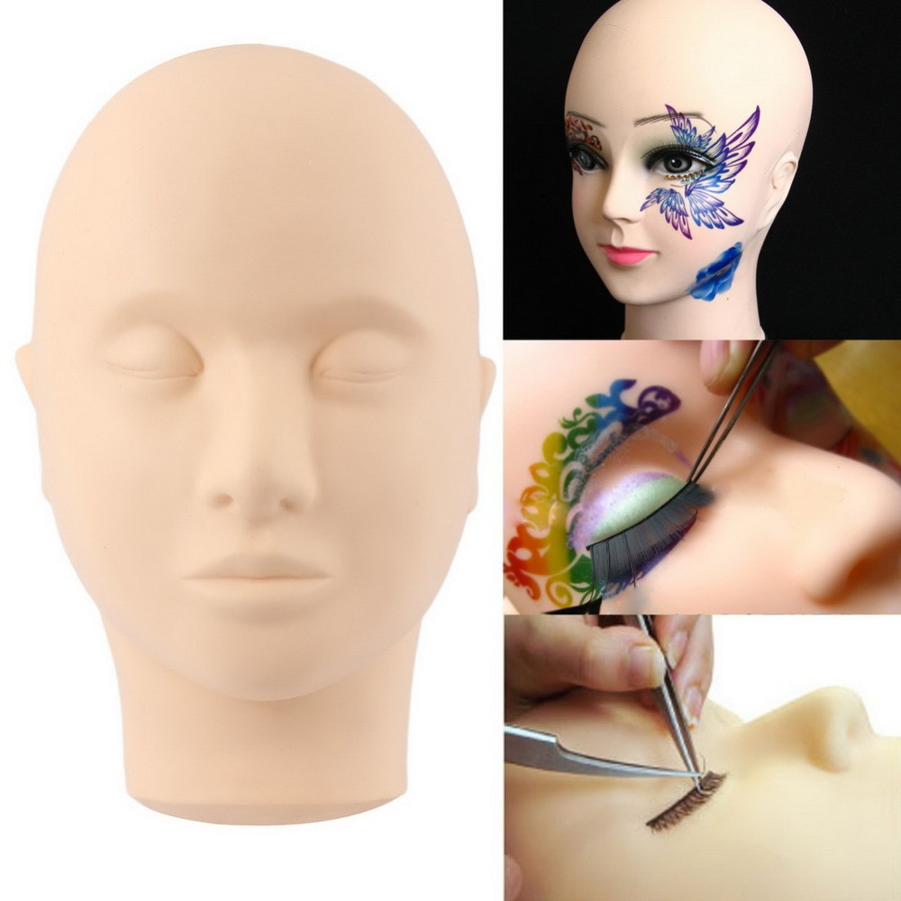 Mannequin Head For Makeup Practice Mannequin Head For Eyelash Mannequin Training Head Closed Practice Model Massage Head Dummy