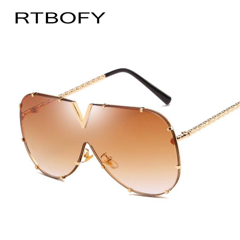 RTBOFY Marque Design lunettes de Soleil Femmes Hommes HD Polarisées lunettes de Soleil de Luxe Shades UV400 JR8884-4
