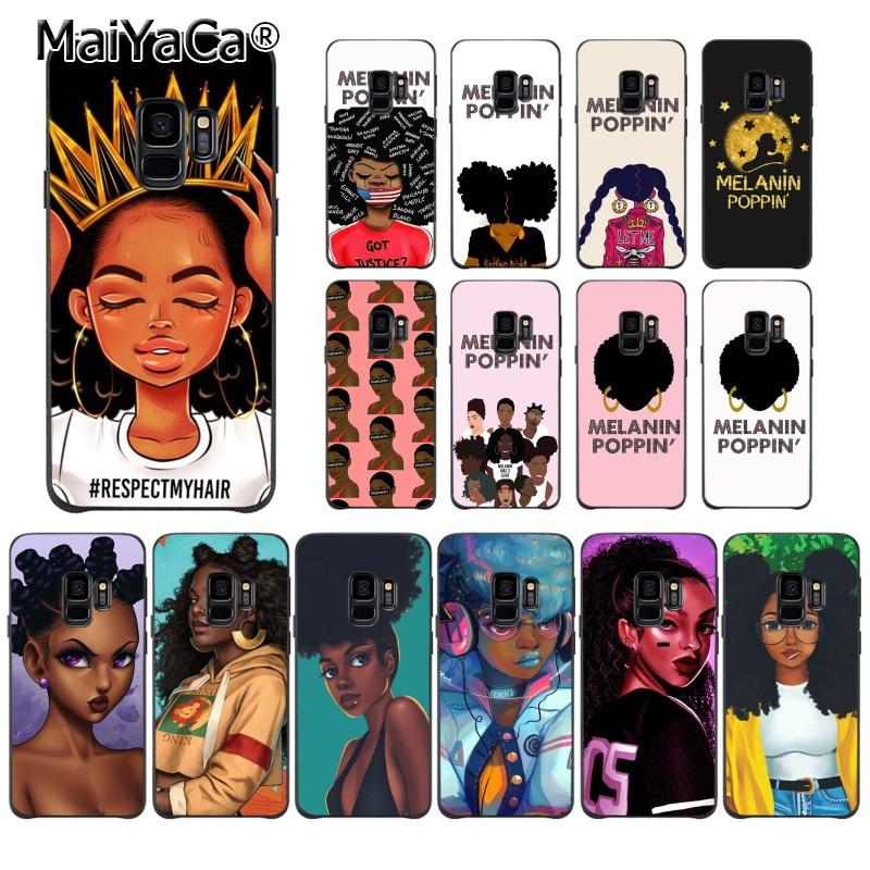 Cellphones & Telecommunications Genteel Maiyaca Melanin Poppin Black Girl Custom Photo Soft Phone Case For Samsung Galaxy S7edge S6 Edge Plus S5 S8 S7 S9 Plus Case Phone Bags & Cases