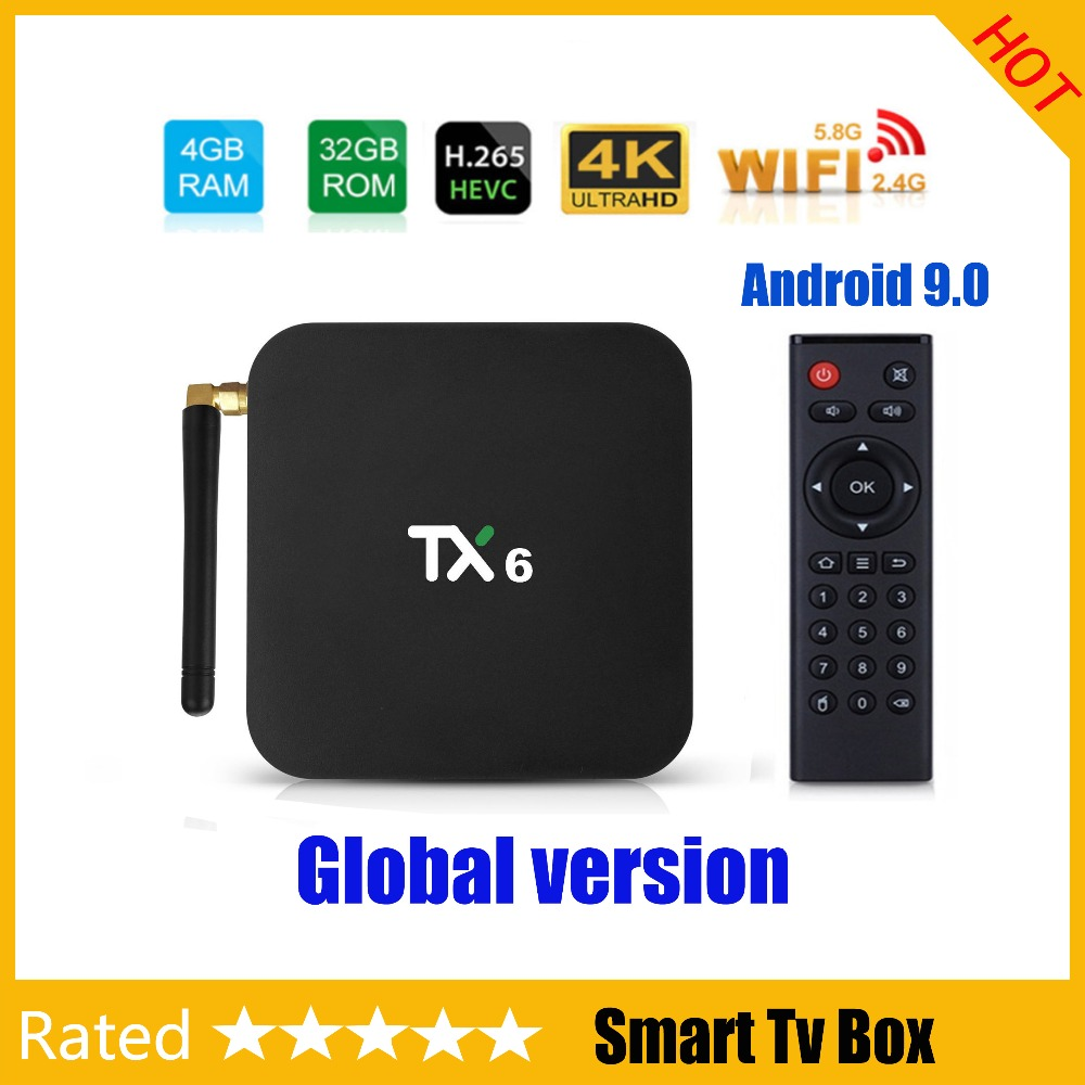 Android 9 0 TV Box TX6 4GB RAM 64GB 5 8G Wifi Allwinner H6 Quad Core