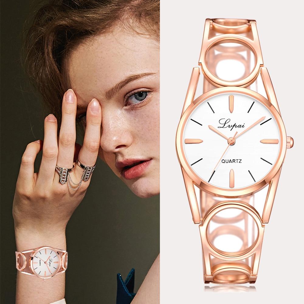 Lvpai Famous Brand 2018 New Women Fashion Luxury Watch Rose Gold Diamond Ladies Wristwatch Casual Women Quartz Watch