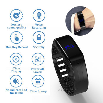 8GB 30 Hours Mini Digital Bracelet Voice Recorder диктофон Espia регистратор Small шпион gravador de Audio Recording Watch