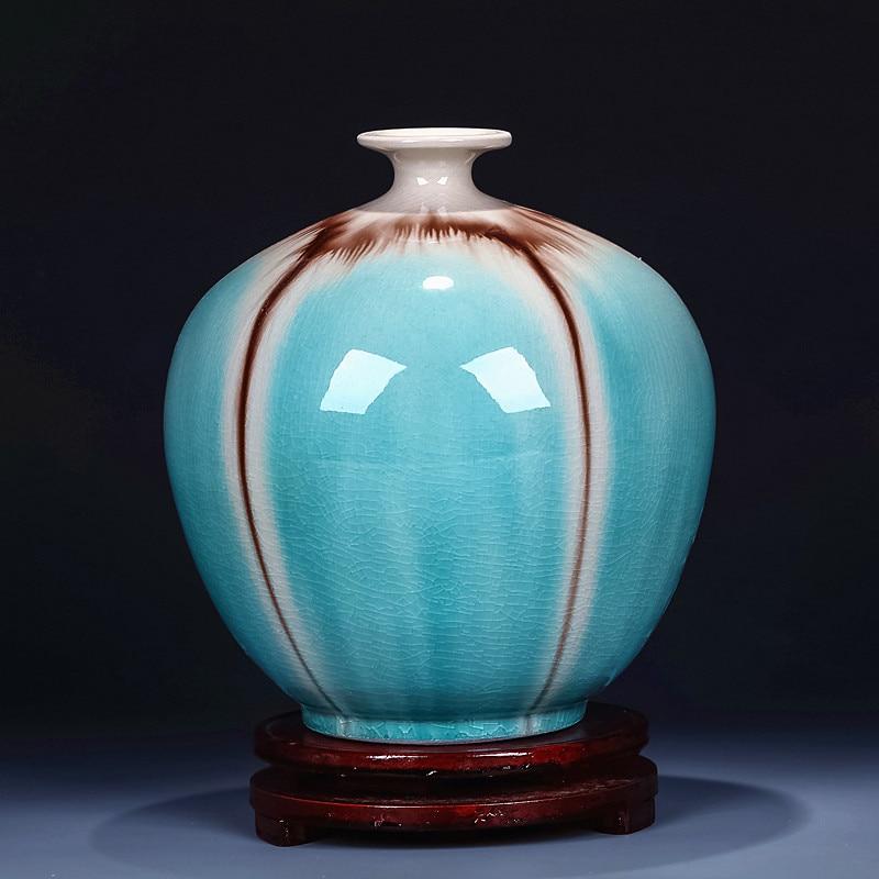Unikátní řemeslná čínská keramická porcelánová váza na květiny pro domácí dekorace