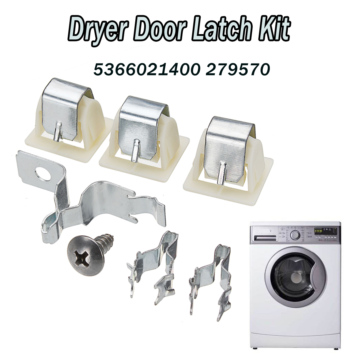 dryer door latch kit part for electrolux frigidaire kenmore 5366021400 279570 in clothes dryer parts from home appliances on aliexpress com alibaba group [ 1200 x 1200 Pixel ]