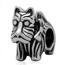 New Free Shipping 1Pcs Silver Bead Charm European Silver Bow dog cartoon Charm Pendant Bead Fit Pandora Bracelet gift