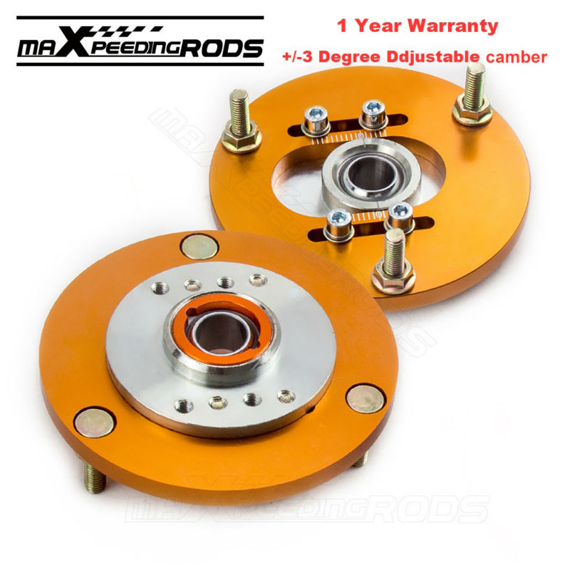 Front camber top mounts For BMW E36 91-98 318i 318is 318ic 323i 325i M3 3 Series E36 318 320 323 325 Front Coilover Top Mounts knot front gingham top