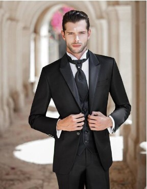 f905f0de499 Fitted Men s Suits Jacket+Pant+Vest Groomsmen Suit Men Formal Wear Fashion  Chinese Suits for Men
