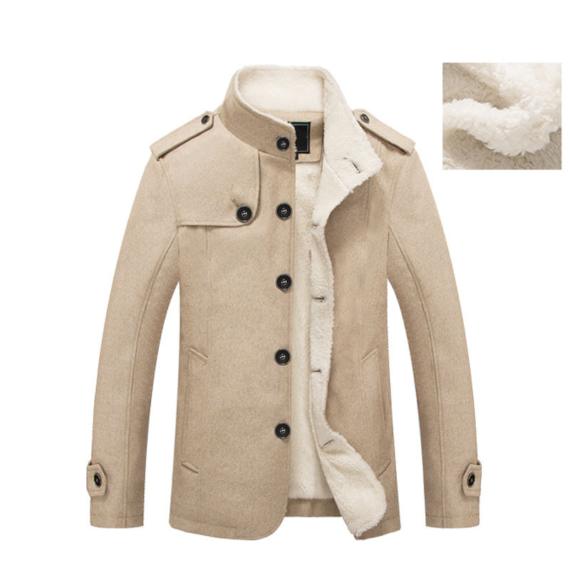 Image 2 - Mountainskin Winter Men's Coat Fleece Lined Thick Warm Woolen Coats Autumn Overcoat Male Wool Blend Jackets Brand Clothing SA607-in Wool & Blends from Men's Clothing