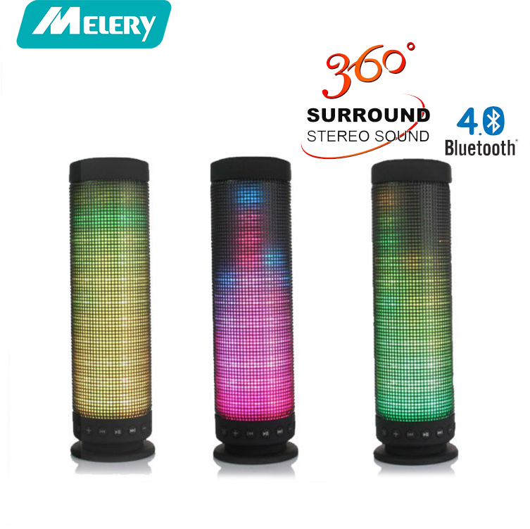 Melery  LED Colorful Bluetooth Speaker Mini Portable 10W Wireless Bluetooth 4.0 Pulse Computer Speaker AUX IN TF Card for Phone original xiaomi mi bluetooth speaker wireless stereo mini portable mp3 player pocket audio support handsfree call tf card aux in