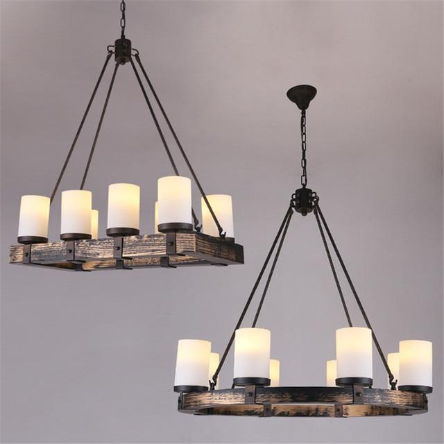 Vintage Holz Pendelleuchten Lampe Loft Kreative Persnlichkeit Industrielle Led Lampen Amerikanischen Stil Fr Wohnzimmer