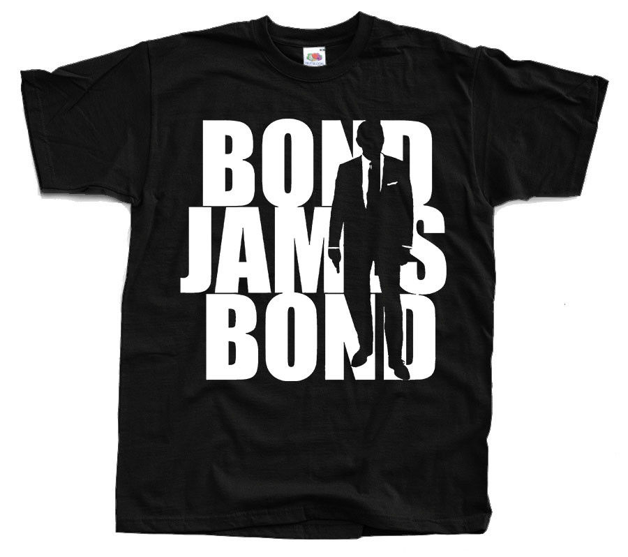 James Bond <font><b>V8</b></font> <font><b>T</b></font> <font><b>Shirt</b></font> Black All Sizes S To 4Xl image