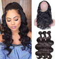 360 Lace Frontal With Bundle Indian Body Wave 360 Frontal With Bundles Indian 360 Lace Virgin Hair 360 Lace Frontal With Bundles