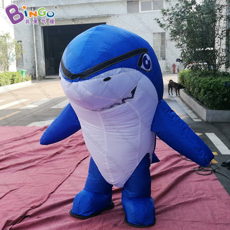 Personalized 1.8 meters high inflatable shark costume / inflatable shark mascot costume toysPersonalized 1.8 meters high inflatable shark costume / inflatable shark mascot costume toys