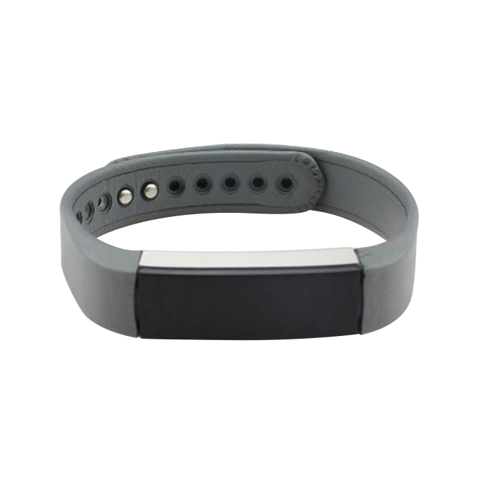 Leather Watch Band Wrist Strap For Fitbit Alta Gray S