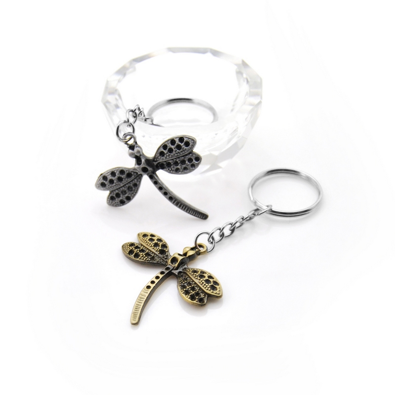 Fashion Original Dragonfly Keychain Charm Purse Bag Keyring Alloy Key Chain Accessories Brand New Wedding Party women Gift in Key Chains from Jewelry Accessories