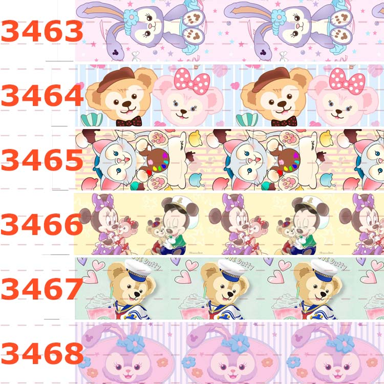 US $2 96 24% OFF|10yards different sizes Cartoon Duffy bear pattern printed  Grosgrain ribbon Cartoon animal printed ribbon-in Ribbons from Home &