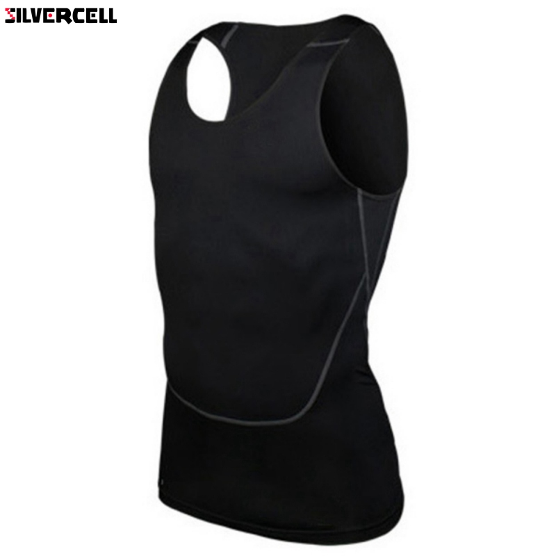 Chic Men Compression Base Line Fitness Sleeveless Shirt Vest Breathable   Top   S-2XL