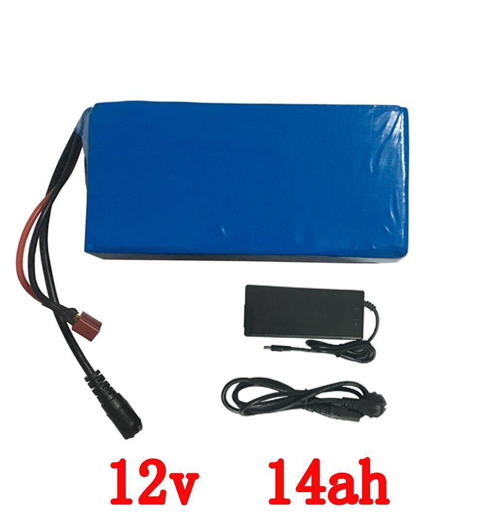 Бесплатная доставка e - велосипед батареи 12V 14ah 250W с 12 В 5A зарядное устройство,20А BMS12v блок батарей лития 12V для LED свет