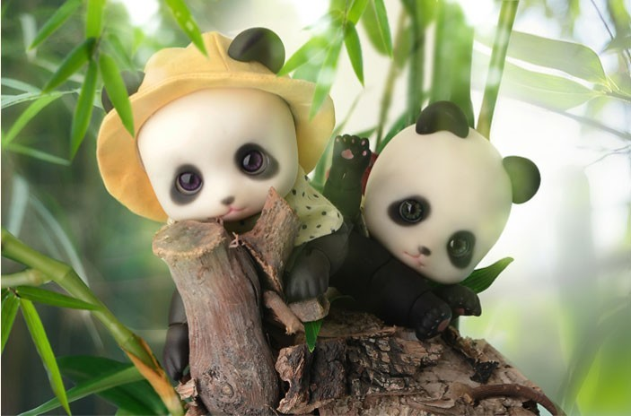 Luodoll SOM billowing Panda 1/8 Panda Meng small animals BJD SD doll birthday gift to send eyelashes цены онлайн