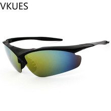 VKUES Fashion Mens Sunglasses Semi-rimless Tough Sun Glasses Anti-glare Windproof Outdoor Sports Goggles Cyclists Eyewear UV400