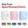 Карманный принтер Тепловой Bluetooth Mini Мобильный портативный 58-мм принтер для телефонов Android iOS Корабль из Испании / России Карманные принтеры