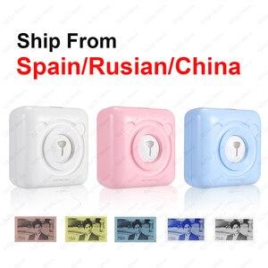 Image 1 - Impressora térmica portátil de bolso, impressora de 58mm para celulares android, ios, navio da espanha/rússia impressoras