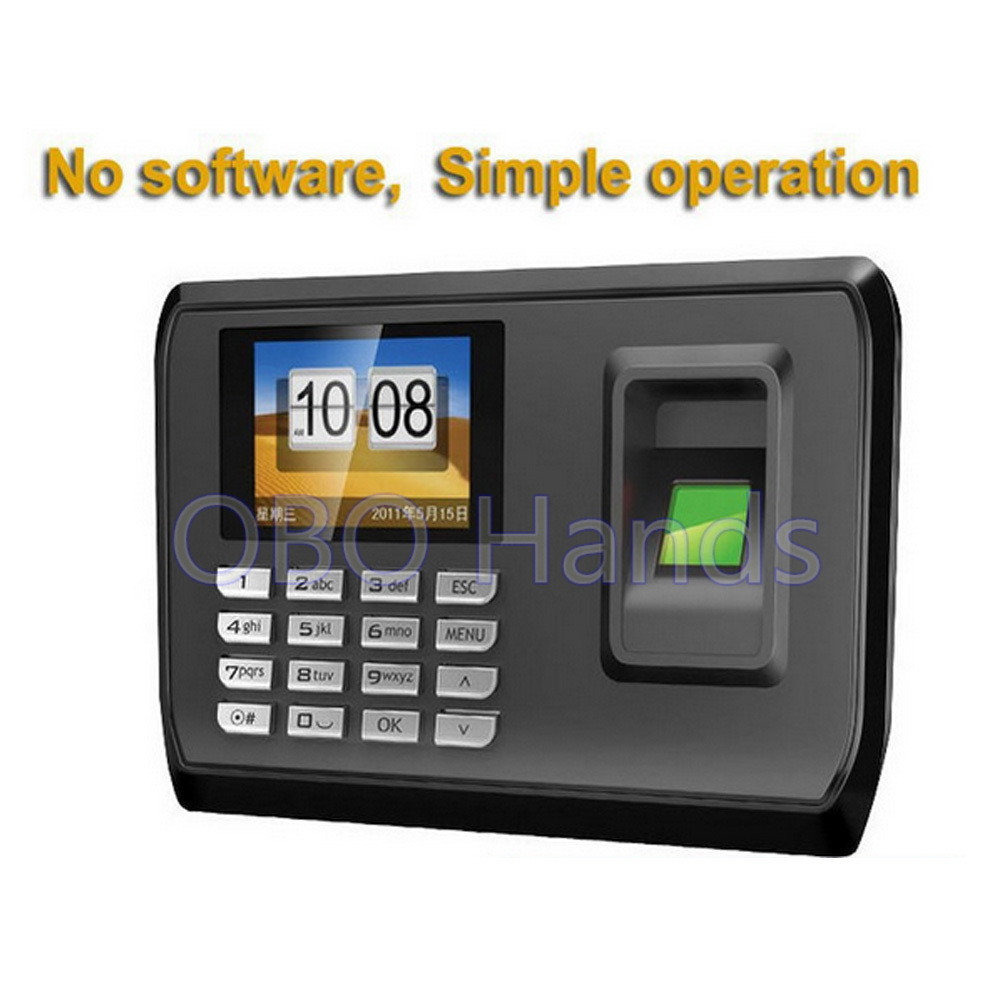 Hot sale!Biometric Fingerprint Time Clock Recorder Attendance Employee Machine With USB driver flash biometric time attendance fingerprint time recoorder time clock for office employee with usb support english language
