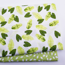 Leaf Printing Twill Cotton Fabric Quilting Cloth Handmade DIY Sewing Fabric Baby amp Childr Cotton Fabric cheap touching care Woven Breathable other see chart Other Fabric 100 Cotton Printed