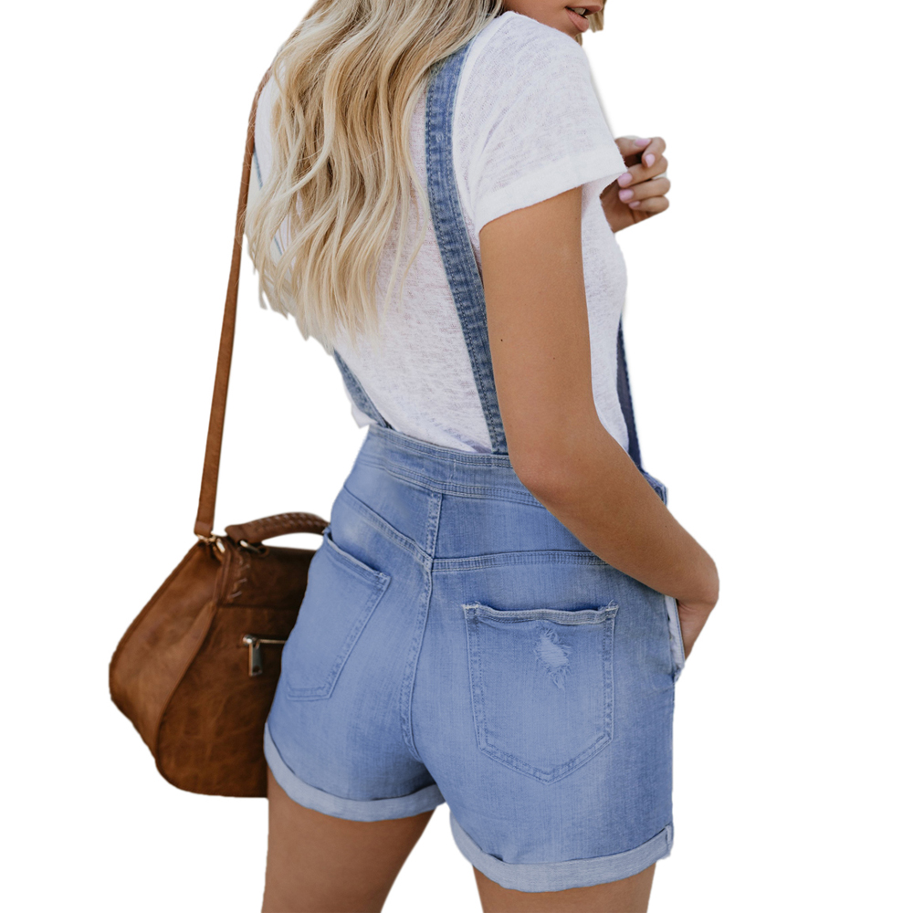 Luz Blue Denim Blue 2019 De Mujer Corto Elástico Pantalones Azul Algodón white light Lc786091 4 Pantalon n5YHr7Yw