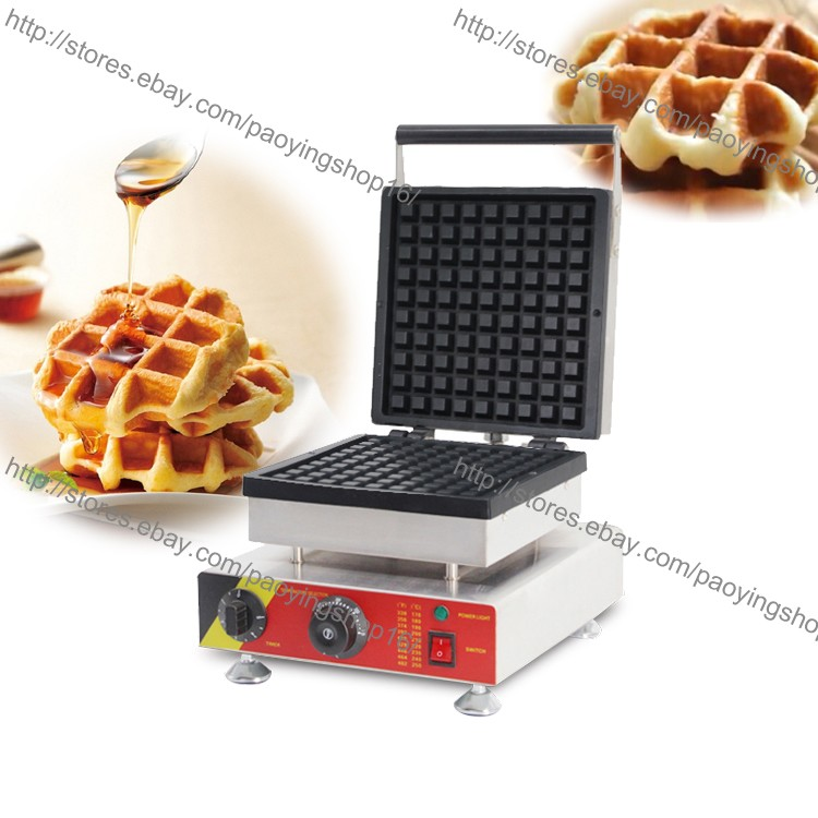 Commercial Nonstick Electric Liege Style Belgian Waffle Machine Iron Maker Baker
