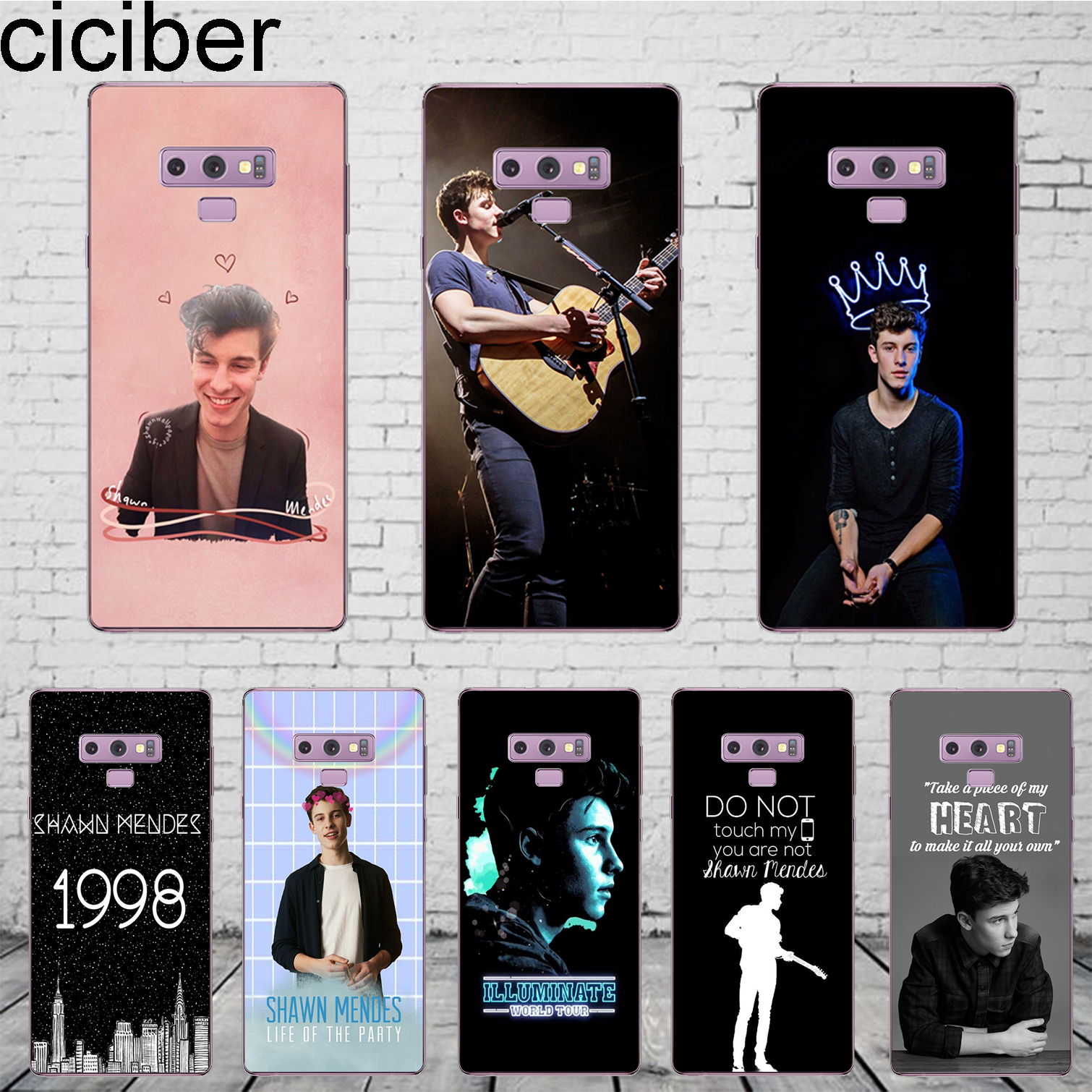 ccbe7c7f2535 ciciber Singer Shawn Mendes Coque For Samsung Galaxy S 5 6 7 8 9 Edge Plus  Phone Case For Galaxy Note 4 5 8 9 Cover Soft TPU