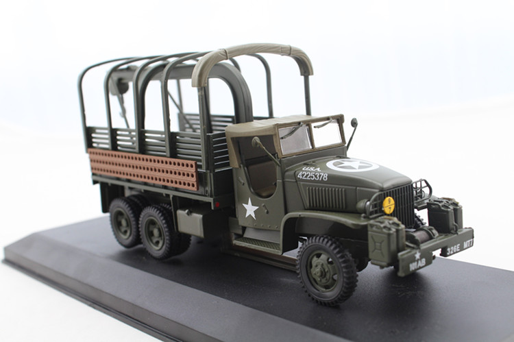 1:43 World War II US military truck truck model 1944 CCKW Battlefield maintenance vehicle model Scale Models atlas 1 43 world war ii ddge command car military off road vehicle alloy model collection model holiday gift