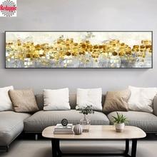 5D DIY بها بنفسك الماس اللوحة الماس التطريز مجردة الذهبي شجرة المطر تتدفق عملات ديكور صورة حجر الراين ديكور المنزل