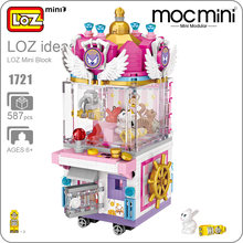 LOZ Mini Blocks Clip Doll Machine Claw Game UFO Catcher Model Amusement Park Boy Girl Gifts Toy Building Blocks Bricks Kits 1721