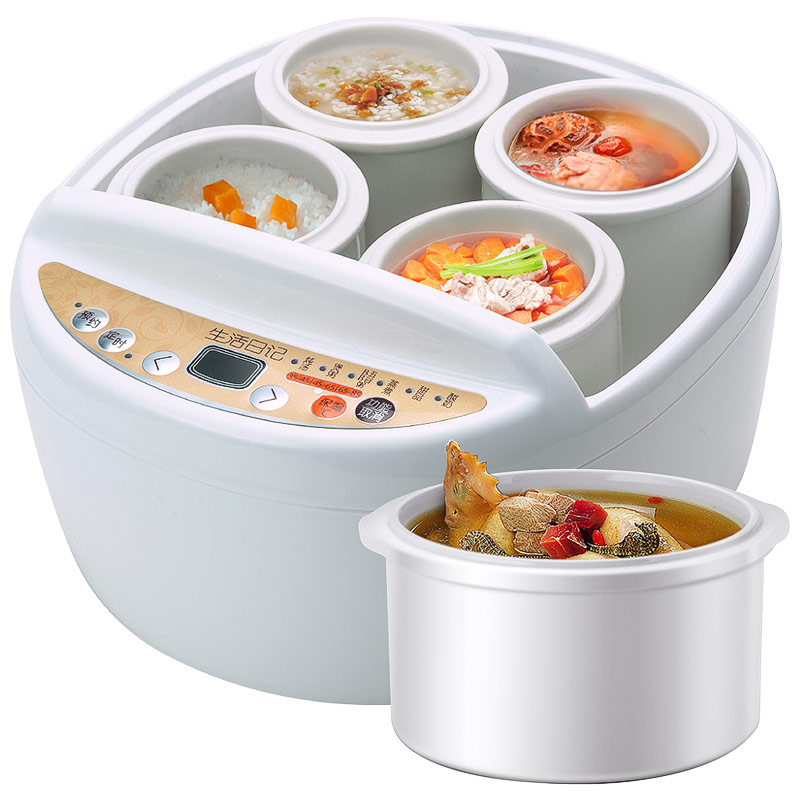 Ceramics Electric Cooker Water Isolated Fully Automatic Stew Pot Porridge Soup Pot Electric Stew Pot bear ddz b12d1 electric cooker waterproof ceramics electric stew pot stainless steel porridge pot soup stainless steel cook stew