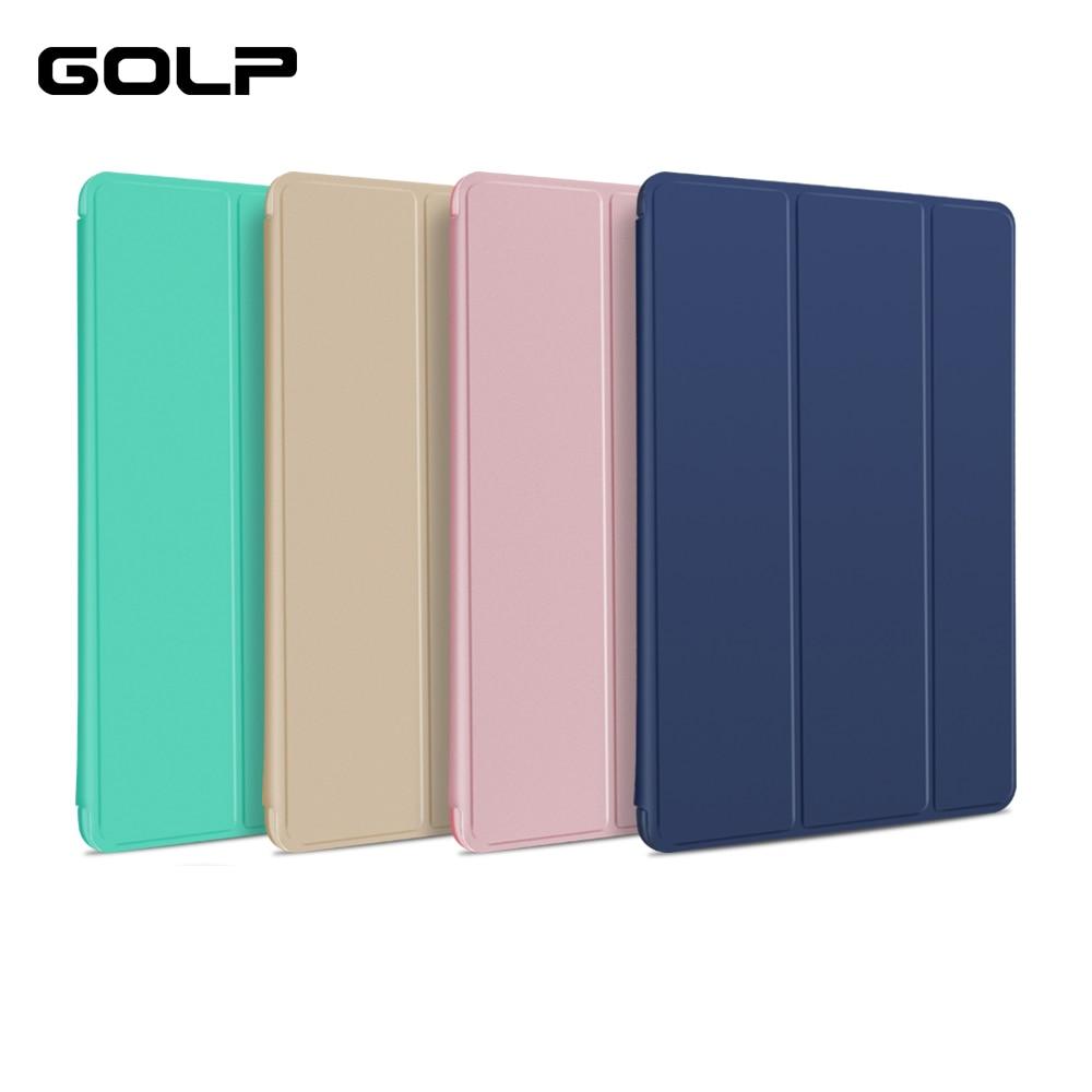 Caso Flip Magnetic Stand Case para ipad air 2, GOLP Ultra Fino Couro PU + PC Duro Voltar Smart Cover para ipad air 2