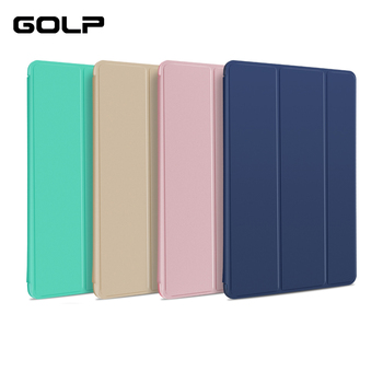 цена на Magnetic Flip Stand Case for ipad air 2 case, GOLP Ultra Slim PU Leather +Hard PC Back Smart Cover for ipad air 2