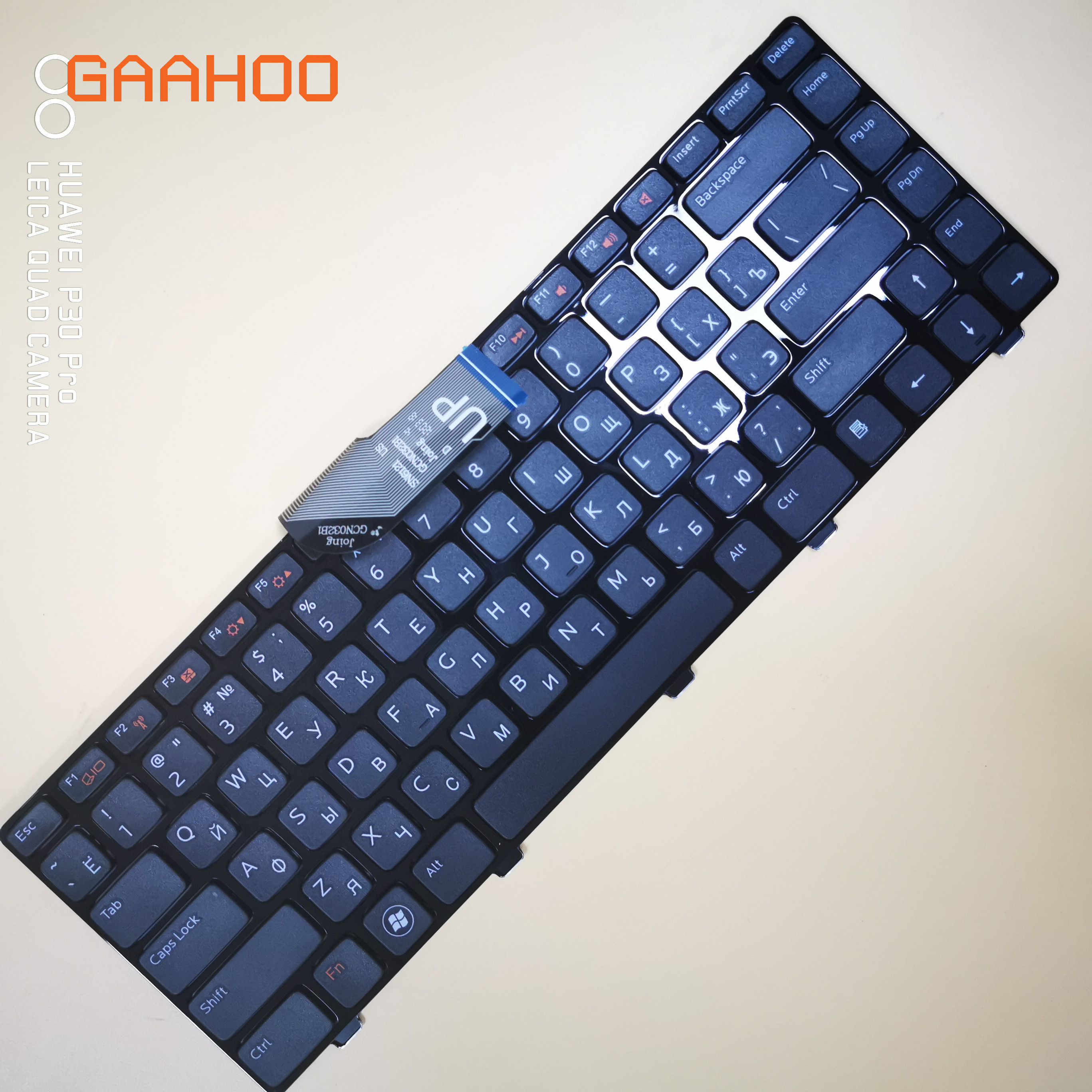 Russian laptop <font><b>keyboard</b></font> for <font><b>DELL</b></font> Inspiron 14R N4110 M4110 N4050 M4040 N5050 M5050 M5040 N5040 3330 X501LX502L P17S P18 N4120 RU image