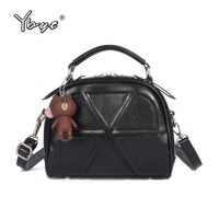 YBYT Brand 2016 New Fashion Casual Patchwork Shell Bags Hotsale Ladies Bear Doll Shopping Bags Shoulder