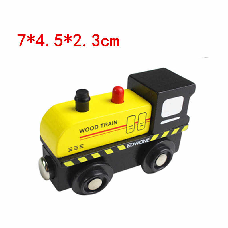 EDWONE wooden magnetic train for Tmas wooden tracks can be connected to the Tmas train variety wooden train Bumblebee