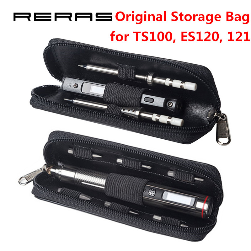 US $9 99 |Original Portable Storage Bag for MINI TS100 Soldering Iron &  ES120 ES121 Electric Screwdriver Carry Case Waterproof Organizer-in  Electric