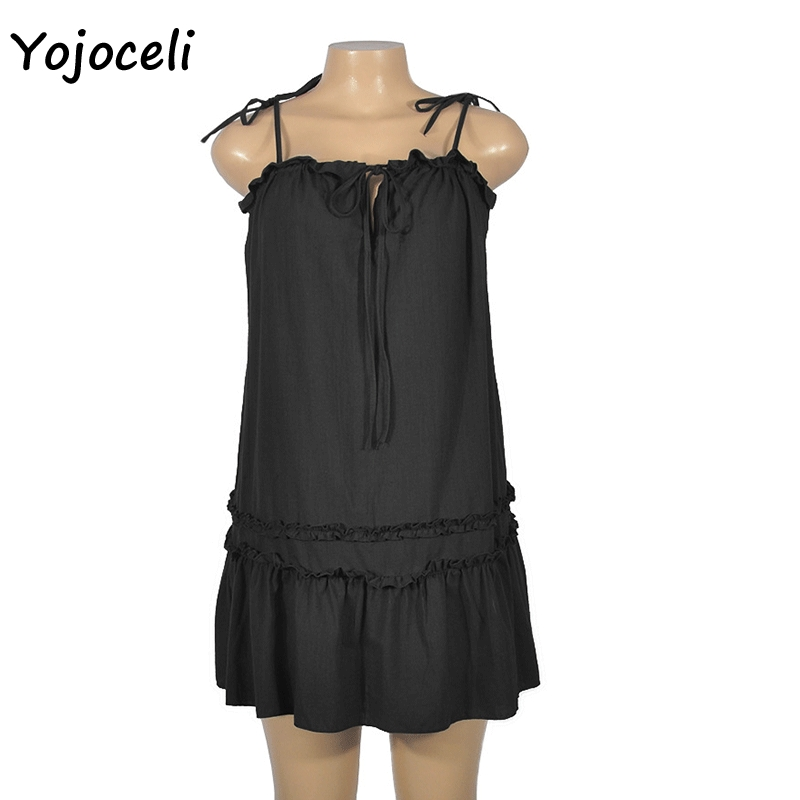 Cuerly boho beach cute ruffle sundress streetwear new spring summer mini dress L5 in Dresses from Women 39 s Clothing