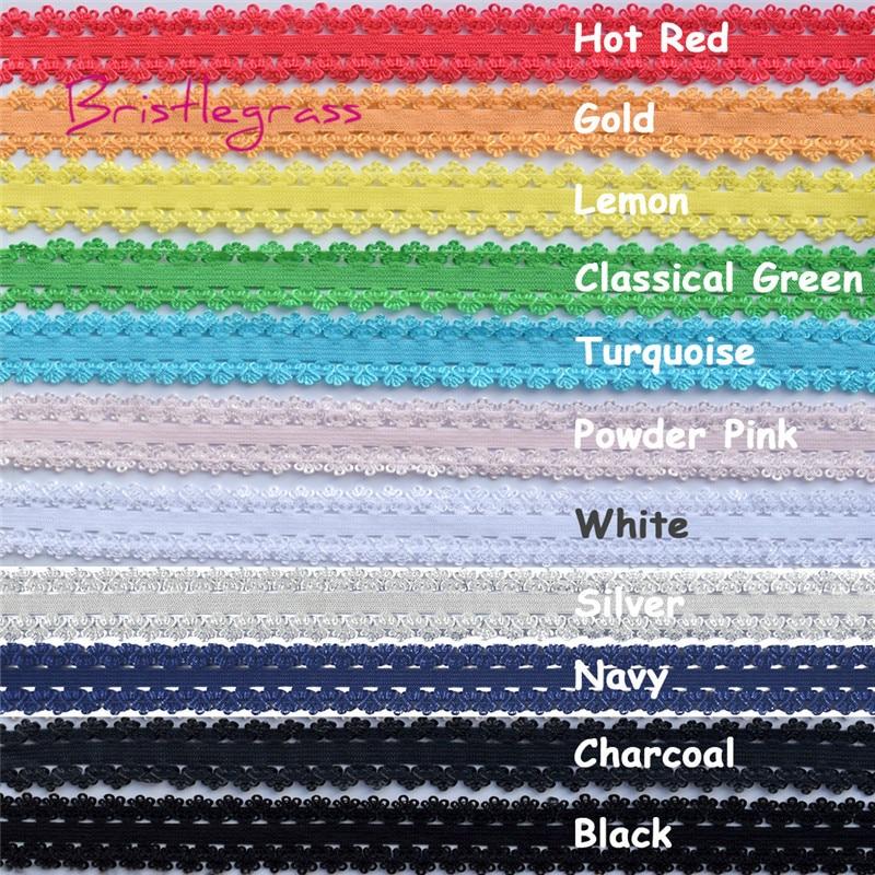 "3 yards Hot pink 1//2/"" ruffle edge elastic craft supplies"