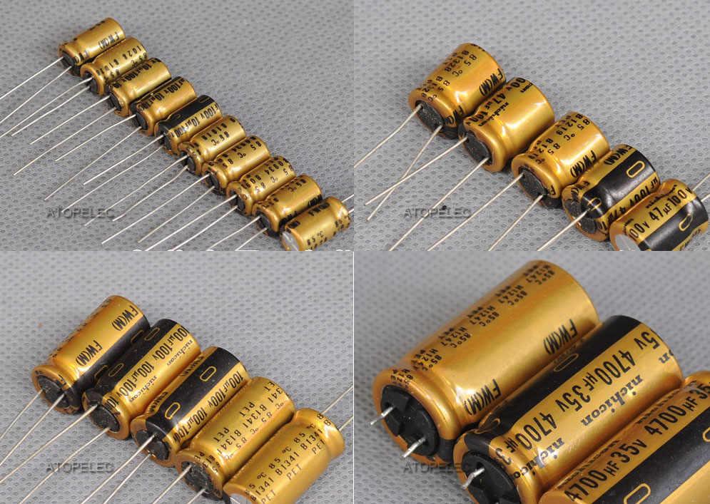 10 Chiếc Nichicon FW Series Tụ Điện Âm Thanh Hi-Fi 2.2 UF/10 UF/22 UF/47 UF /100 UF/220 UF/470 UF/1000 UF 25 V/35 V/50 V /100V