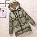 Newly Winter Female Wadded Jacket Women Outerwear Plus Size 5XL Thickening Casual Cotton Down Coat  Army green Women Parkas